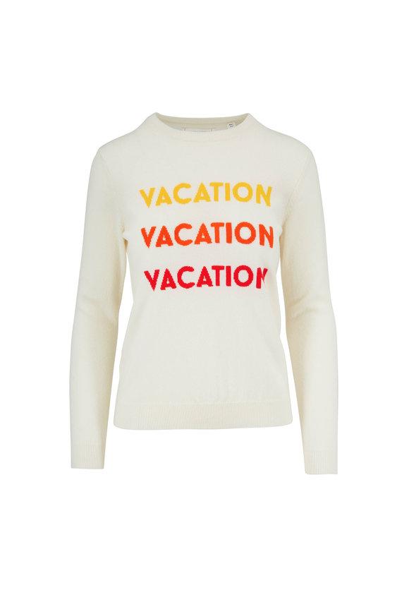 Chinti & Parker Cream Wool & Cashmere Vacation Crewneck Sweater