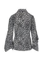 Michael Kors Collection - Cheetah Print Silk Georgette Drape Sleeve Blouse