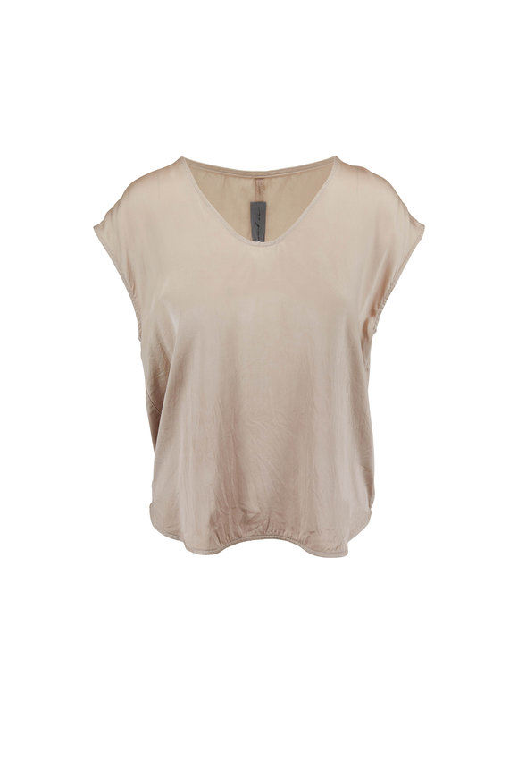 Raquel Allegra Dusty Sand Silk Top