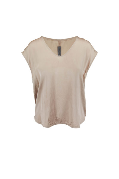 Raquel Allegra - Dusty Sand Silk Top