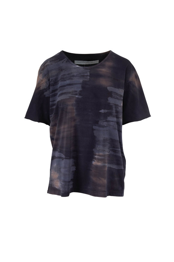 Raquel Allegra Midnight Tie Dye Cotton T-Shirt