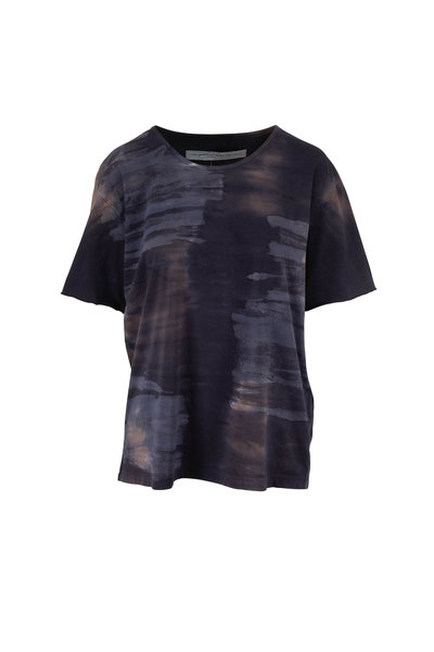 Raquel Allegra - Midnight Tie Dye Cotton T-Shirt