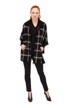 Kinross - Black Worsted Cashmere Gathered V-Neck Sweater