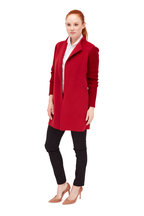 Kinross - Garnet Wool & Cashmere Sweater Coat