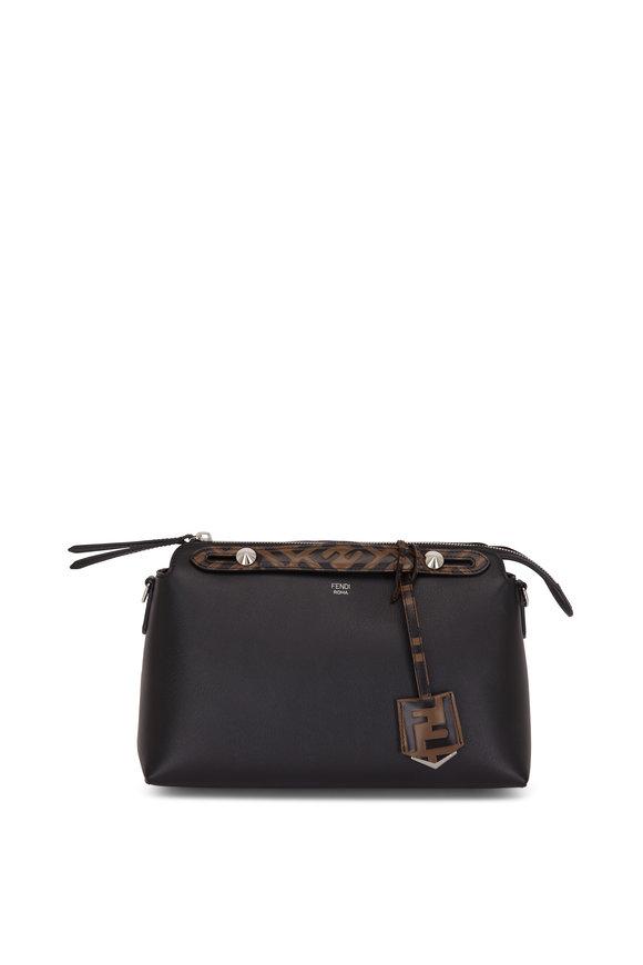 Fendi By The Way Black Leather FF Handle Medium Bag