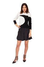 Valentino - Black Wool & Silk Petal Hem Skirt