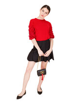 Valentino - Red Wool & Cashmere Floral Appliqué Sweater