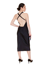 Cushnie - Black Silk Criss Cross Back Pencil Dress