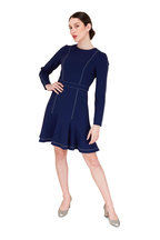 Carolina Herrera - Sapphire Flounce Hem Dress