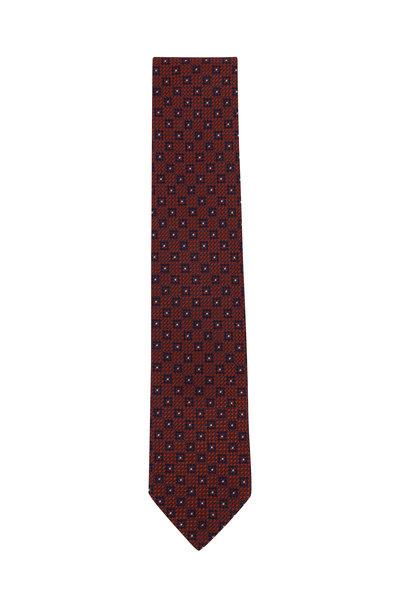 Ermenegildo Zegna - Rust Mini Square Silk Necktie