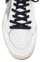 Golden Goose - Women's Ball Star White Glitter Star Sneaker