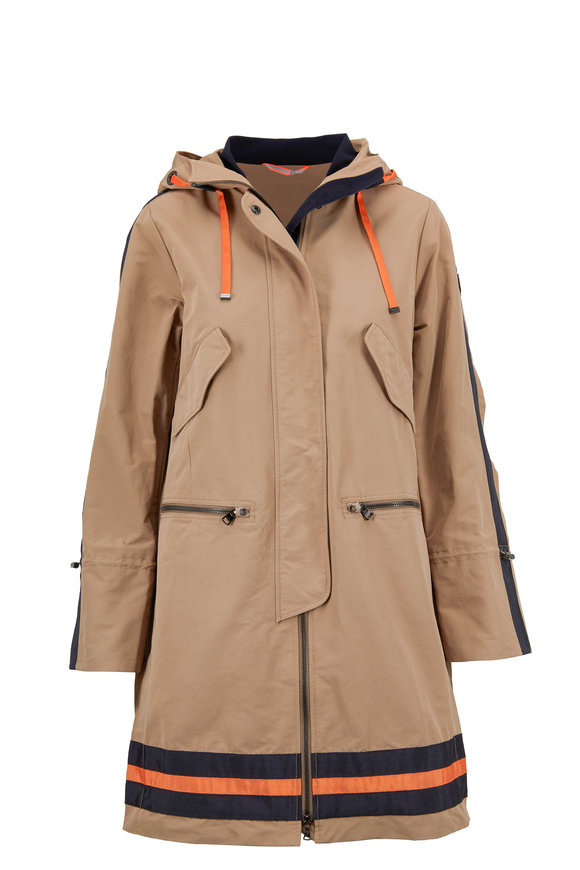 Bogner Karlie Khaki Hooded Trench Coat