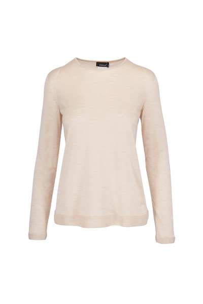 Akris - Birch Fine Gauge Cashmere & Silk Knit Sweater