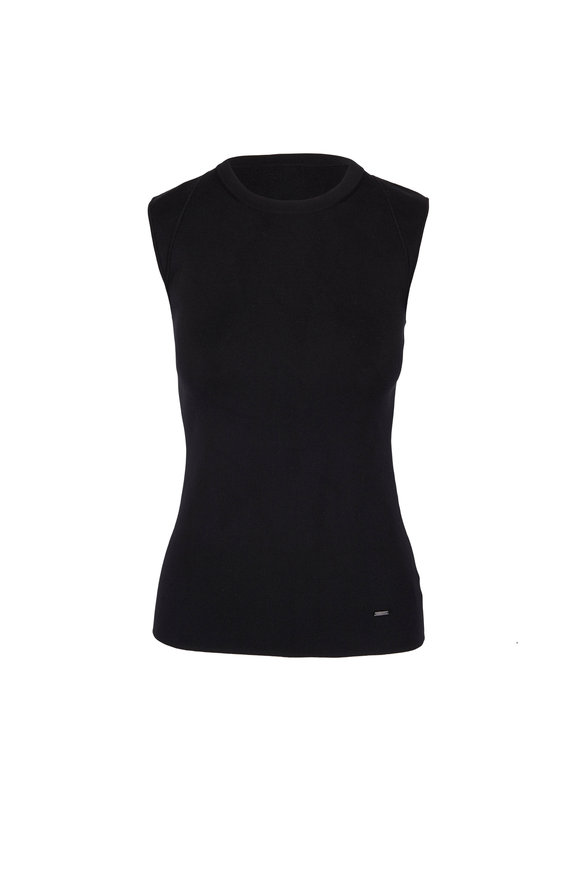 Akris Black Silk Sleeveless Top