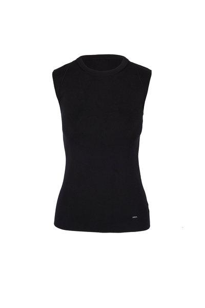 Akris - Black Silk Sleeveless Top