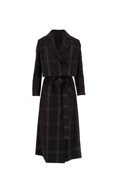 Akris - Edina Black Poplin 2-In-1 Bolero & Gilet Coat