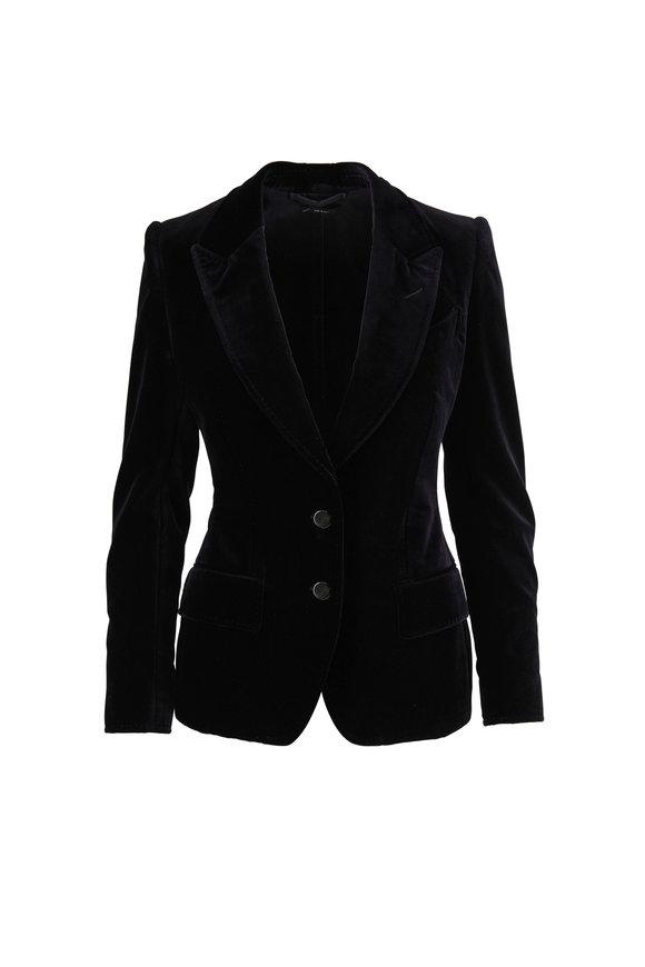 Tom Ford Black Velvet Two-Button Jacket