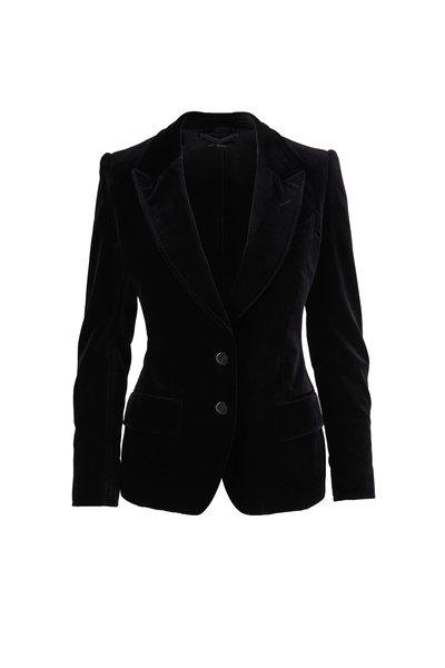 Tom Ford - Black Velvet Two-Button Jacket