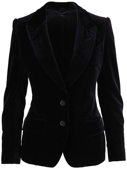 Tom Ford Black Velvet Two-Button Jacket