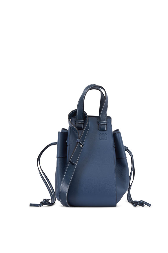 Loewe Bolso Hammock Steel Blue Leather Medium Bag