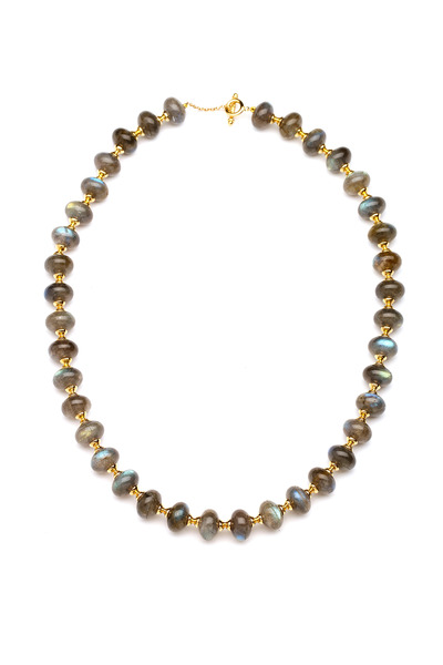 Syna - Gold Labradorite Bead Necklace