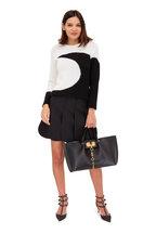 Valentino - Ivory & Black Inset Moon Sweater
