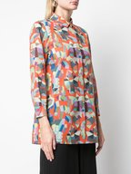 Akris - Multicolor Indian Summer Print Cotton Blouse
