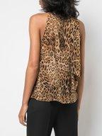 Nili Lotan - Alameda Silk Printed Leopard High Neck Top