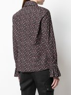 Michael Kors Collection - Black & Rosewood Bell Cuff Button Down