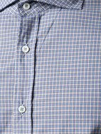 Brunello Cucinelli - Blue & Brown Check Slim Fit Sport Shirt