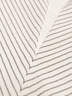 Brunello Cucinelli - White Silk Collarless Monili Panel Henley