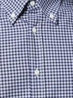 Brunello Cucinelli - Navy Blue & Light Blue Plaid Basic Fit Sport Shirt