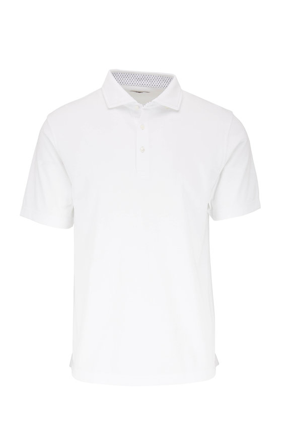 Vastrm White Tech Jersey Polo