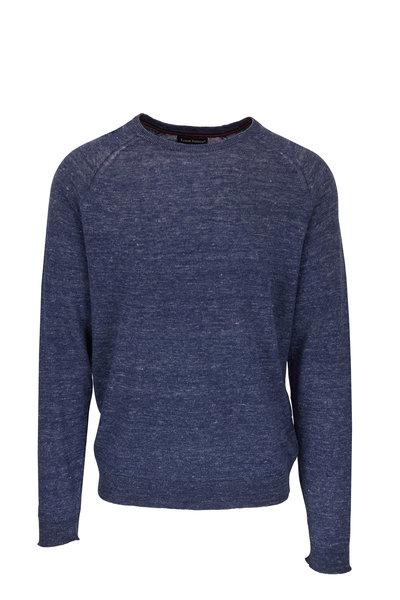 Tailor Vintage - Navy Linen Crewneck Sweater