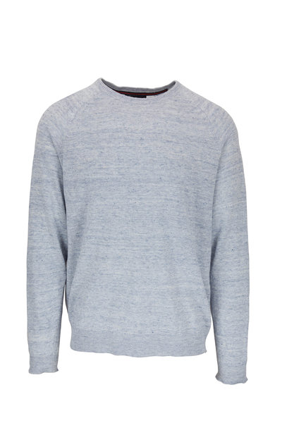 Tailor Vintage - Blue Cotton Crewneck Knit Sweater