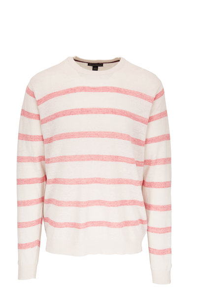 Tailor Vintage - White & Red Stripe Knit Sweater