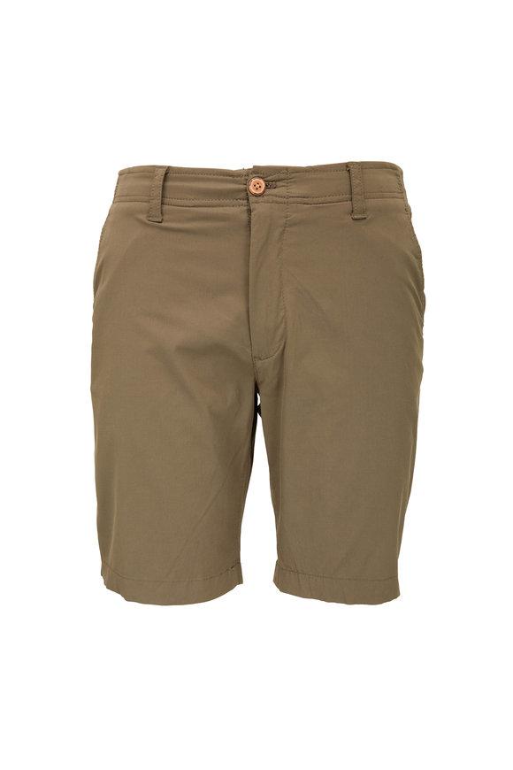 Tailor Vintage Olive Linen & Cotton Shorts