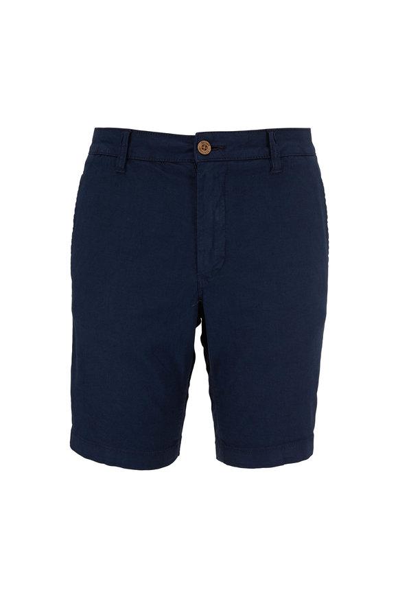 Tailor Vintage Navy Blue Linen & Cotton Shorts