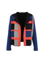 Akris - Multi-Color Cashmere Check Reversible Cardigan
