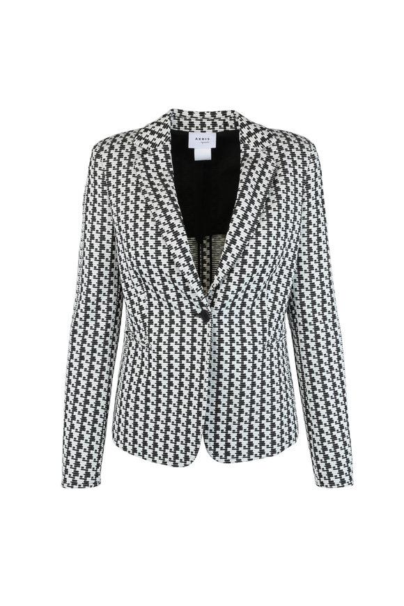 Akris Punto Black & White Soundboard Pattern Jacket