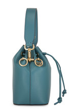 Fendi - Mon Tresor Teal Leather Mini Bucket Bag
