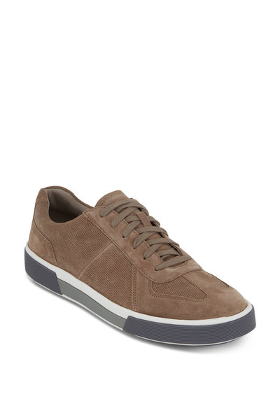 Vince - Rogue Flint Perforated Suede Lace-Up Sneaker