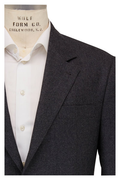 Brunello Cucinelli - Charcoal Virgin Wool Suit