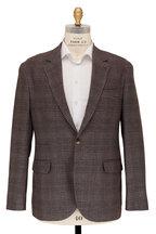 Brunello Cucinelli - Gray & Brown Plaid Sportcoat