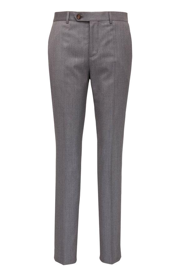 Brunello Cucinelli Medium Gray Wool Pant