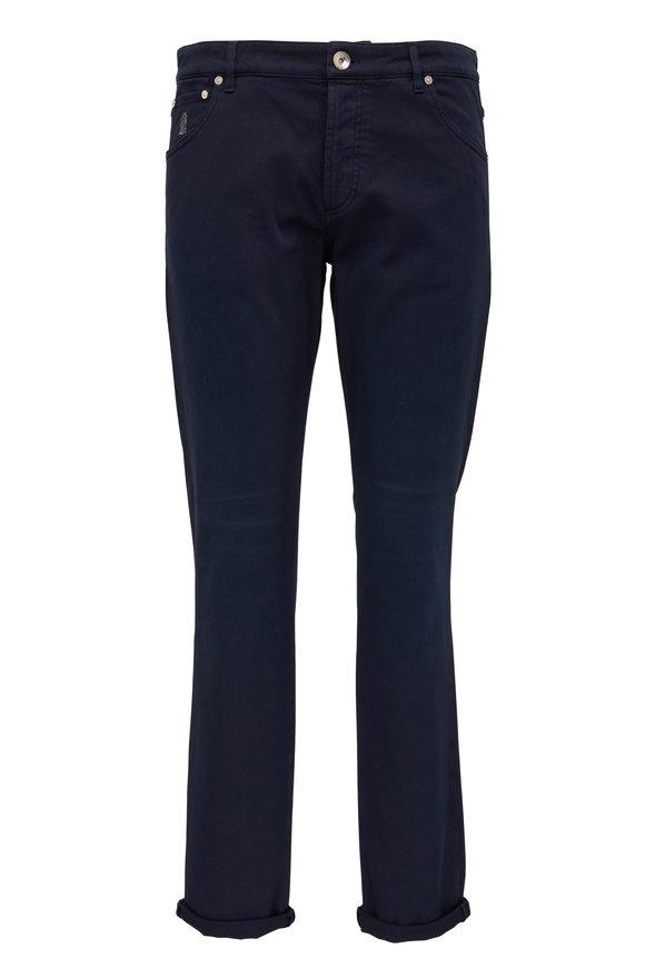 Brunello Cucinelli Midnight Five Pocket Skinny Fit Jean
