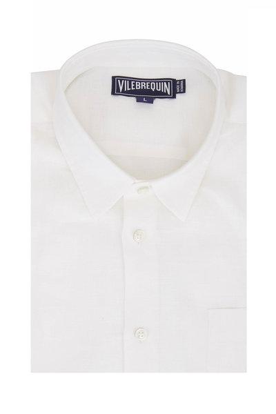 Vilebrequin - Solid White Linen Sport Shirt