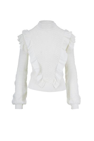 Chloé - Vanilla Ruffled Knit Sweater