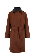 Kiton - Gray & Brown Cashmere Reversible Coat