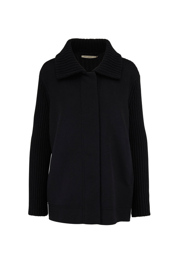 Rani Arabella Black Cashmere Knit Sleeve Jacket
